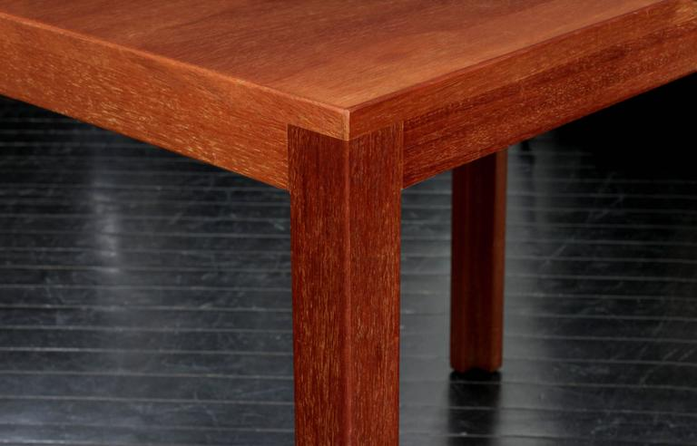Mid-Century Modern Clean-Line End Table in Teak by Edward Wormley For Sale
