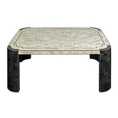 Chic Coffee Table in Tessellated Stone by Maitland Smith