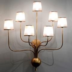 Large 7 Arm Sconces in the manner of Jean Royere