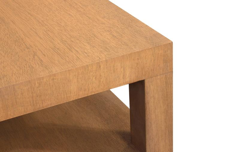Mid-Century Modern Square Coffee Table in Bleached Walnut by T.H. Robsjohn-Gibbings For Sale