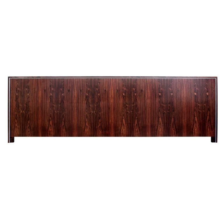 Extra Wide King-Size Headboard in Rosewood and Chrome