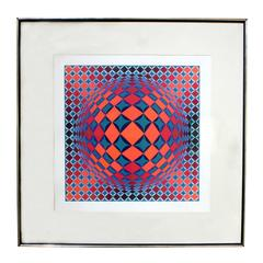 Bold Geometric Print by Victor Vasarely