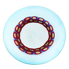 Exceptional Handblown Glass Charger by Anzolo Fuga for A.V.E.M