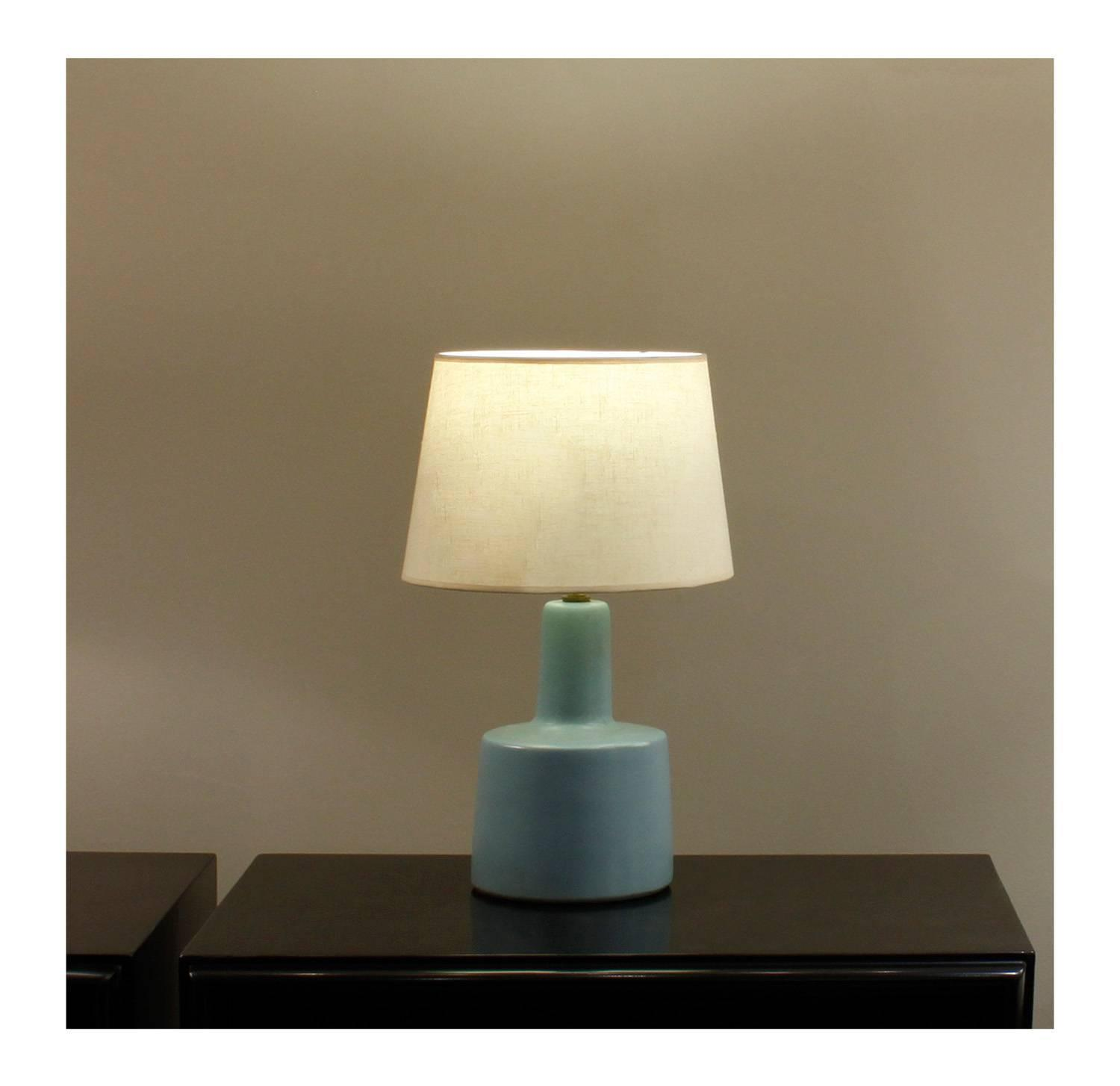Gordon And Jane Martz Blue Ceramic Table Lamp, 1960s At 1stdibs