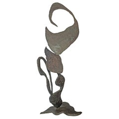 Arthur Gibbons Large Abstract Sculpture in Bronze, 1980s