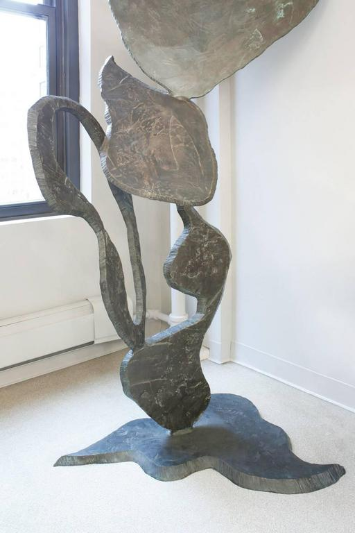 Modern Arthur Gibbons Large Abstract Sculpture in Bronze, 1980s For Sale