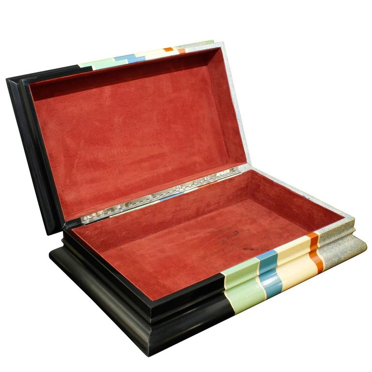 Karl Springer Decorative Box, 1970s In Excellent Condition For Sale In New York, NY