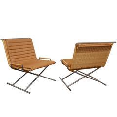 "Ward Bennett ""Sled Chairs"", 1970s"