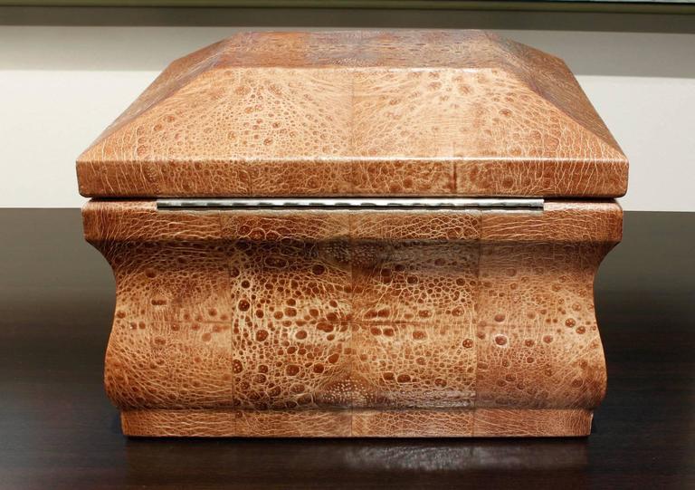 Modern Karl Springer Bullfrog Skin Box, 1970s For Sale