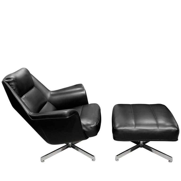 Sculptural Chair And Ottoman From Denmark 1965 For Sale