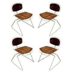 "Michel Cadestin & Georges Laurent Set of Four ""Beaubourg"" Dining Chairs, 1976"
