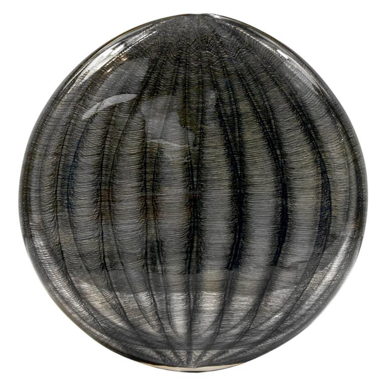 """Tobias Mohl """"Black Net Series"""" Hand Blown Glass Vase, 2005 For Sale"""