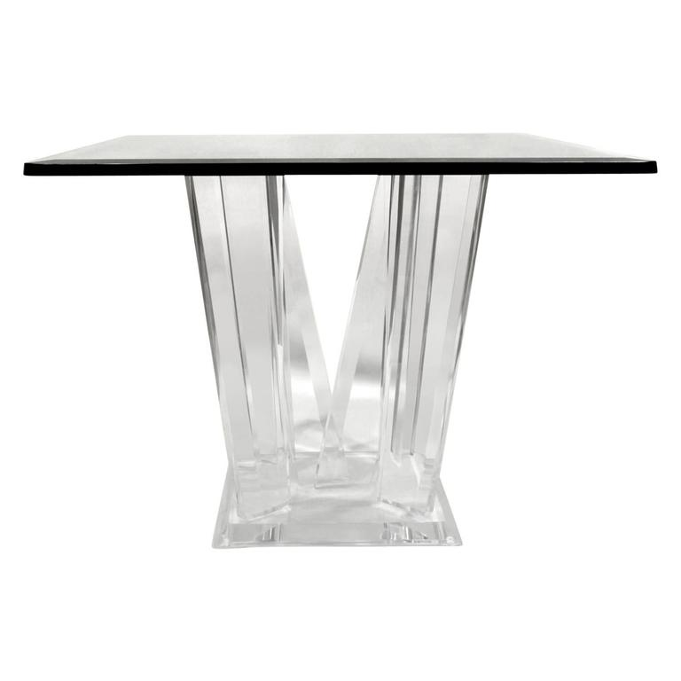 Sculptural Lucite Side Table, 1970s