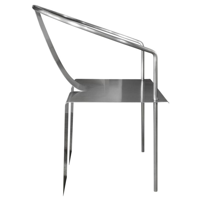 Modern Shao Fan Sculptural Stainless Steel Chair, 2000 'Signed, Dated and Numbered' For Sale