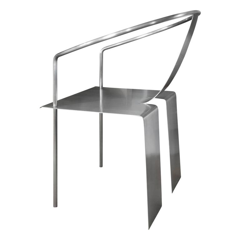 Chinese Shao Fan Sculptural Stainless Steel Chair, 2000 'Signed, Dated and Numbered' For Sale
