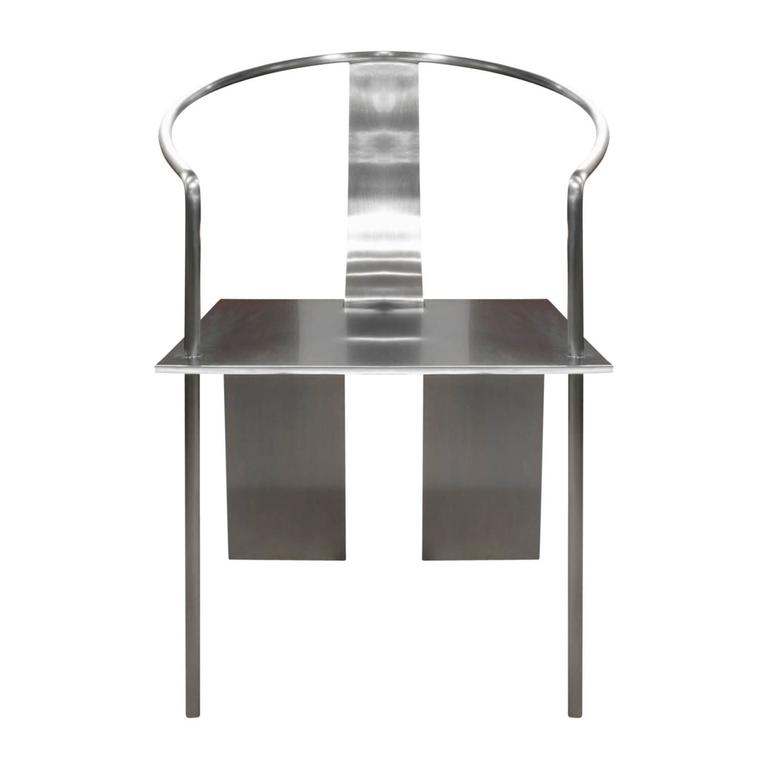 Sculptural chair in stainless steel by Shao Fan, Beijing China, 2000 (signed dated 2000 and numbered 22 of 70).