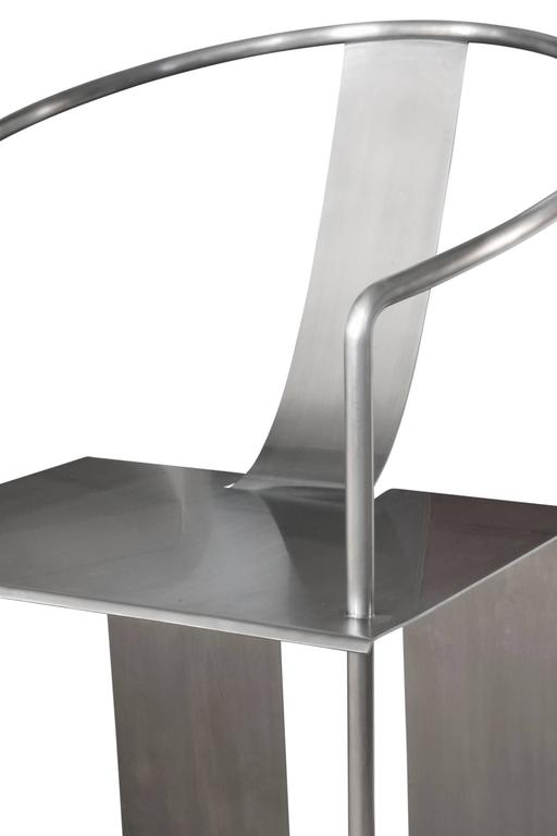 Shao Fan Sculptural Stainless Steel Chair, 2000 'Signed, Dated and Numbered' In Excellent Condition For Sale In New York, NY