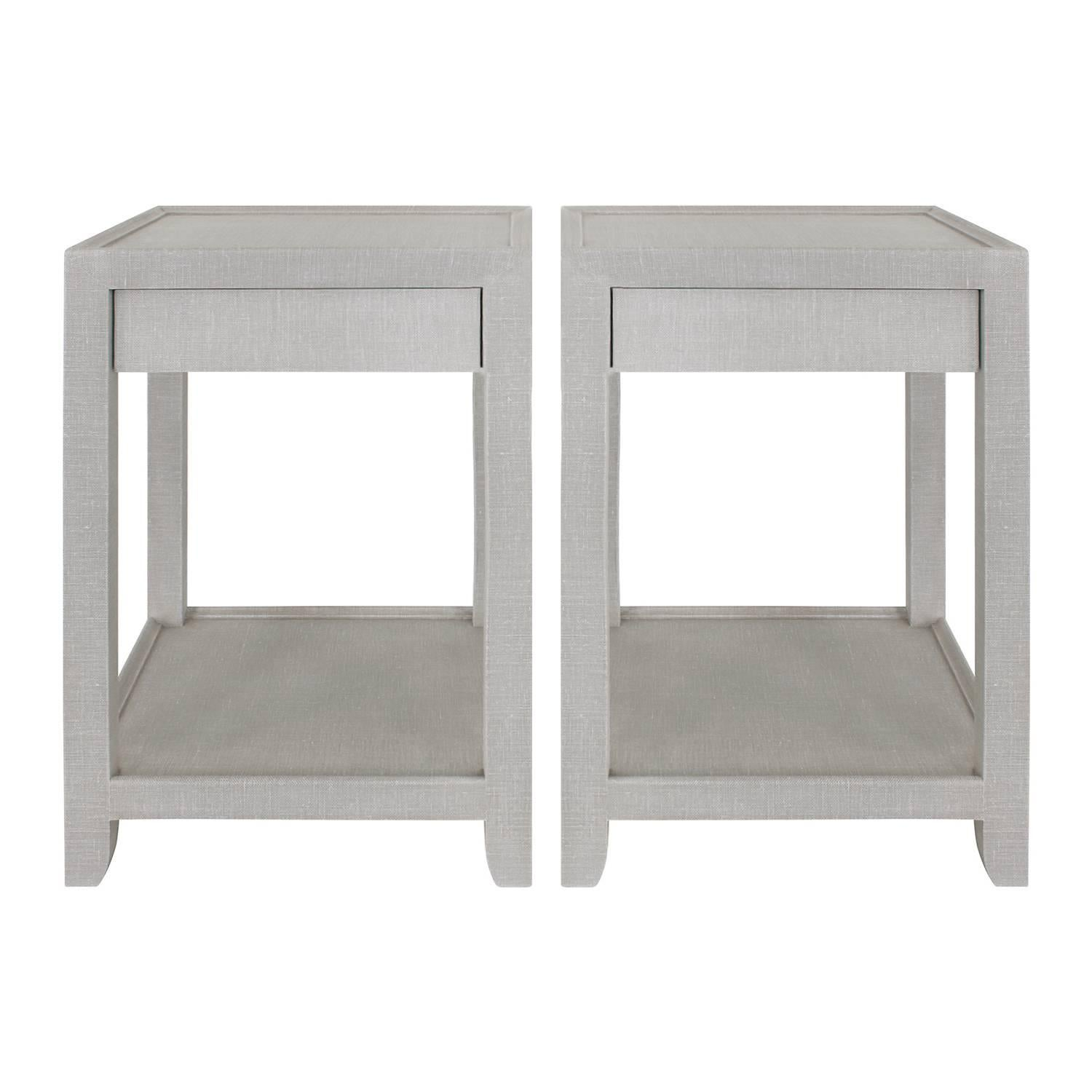 Mary Forssberg Pair of Telephone Style Nightstands with Drawer