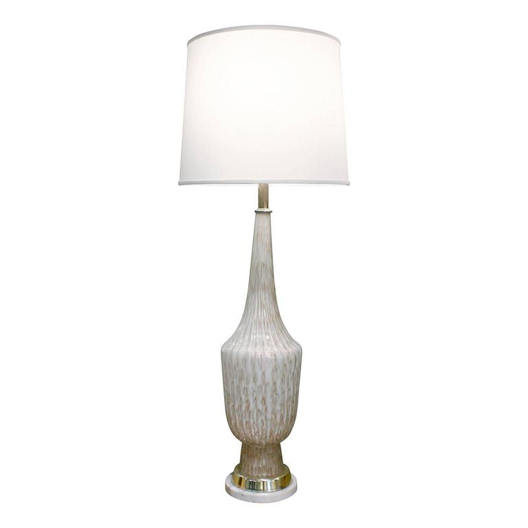 Fratelli Toso Attributed Monumental Glass Table Lamp, 1950s For Sale