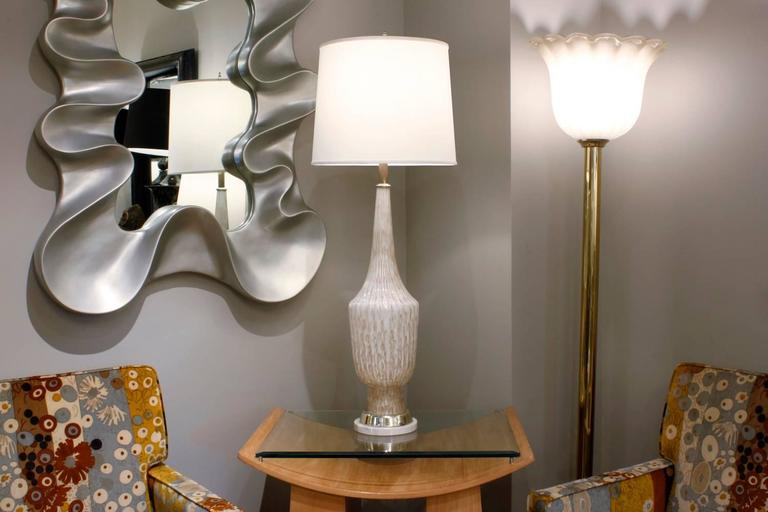 Hand-Crafted Fratelli Toso Attributed Monumental Glass Table Lamp, 1950s For Sale