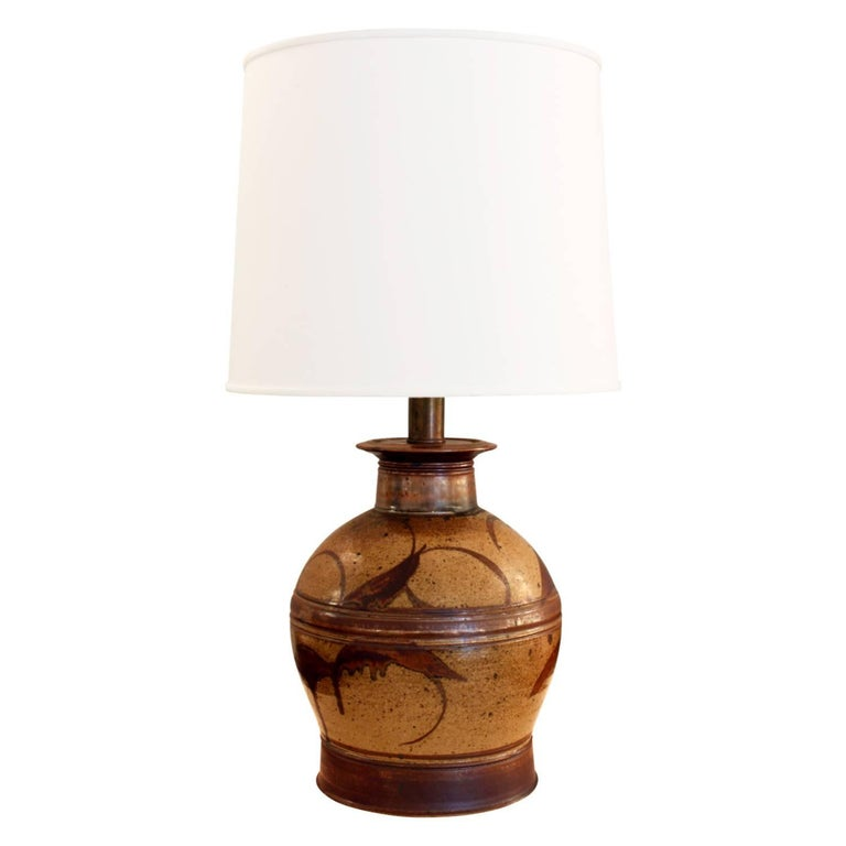 Studio Made Ceramic Table Lamp 1970s For Sale At 1stdibs