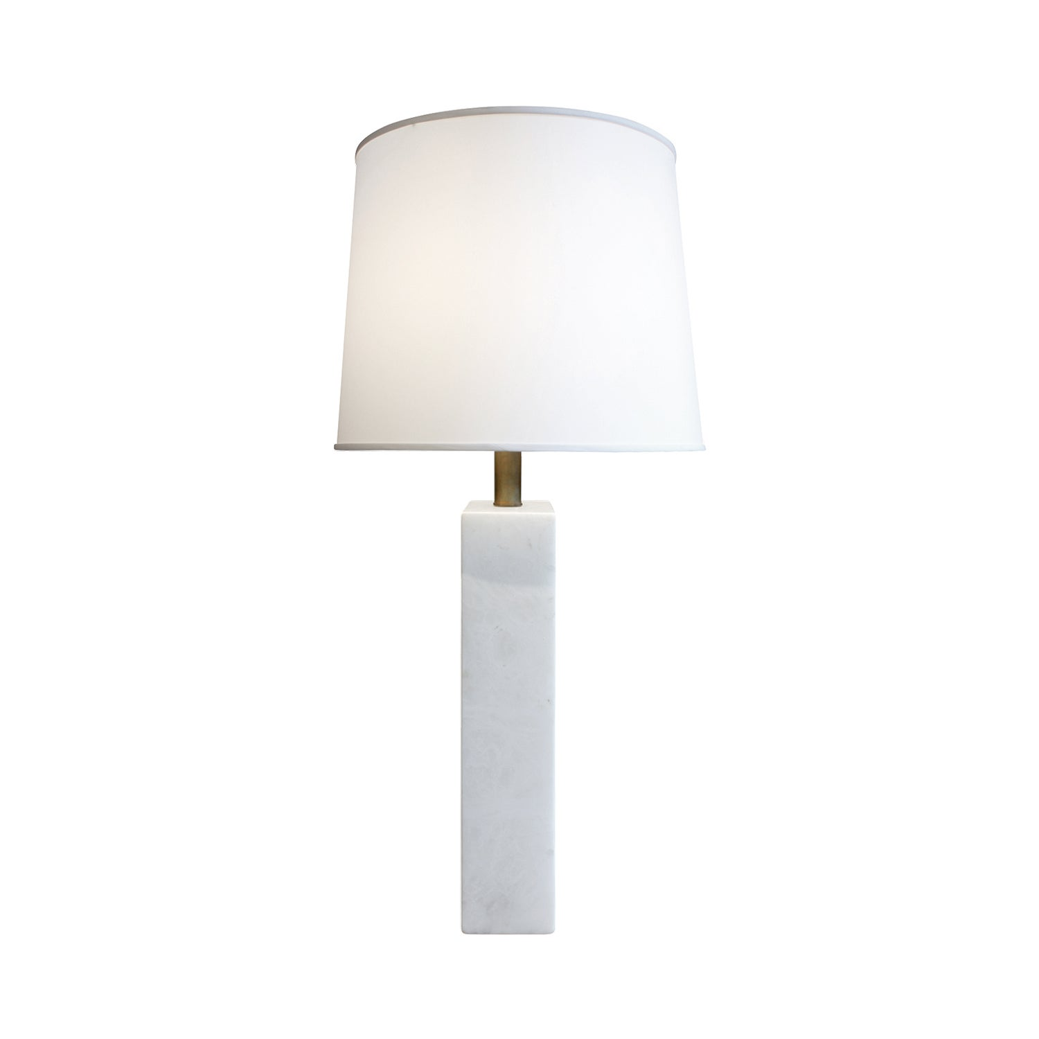 Pair Of Large White Marble Block Table Lamps 1950s At 1stdibs