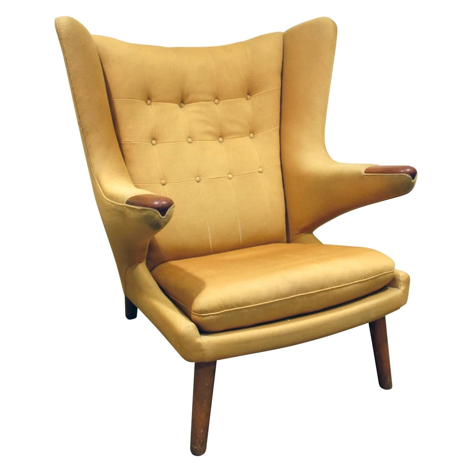 "Hans J Wegner ""Papa Bear Chair"" 1950s For Sale at 1stdibs"