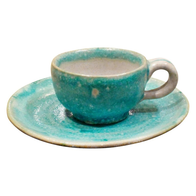 Guido Gambone 33 Piece Ceramic Coffee and Espresso Set, 1950s For Sale 1