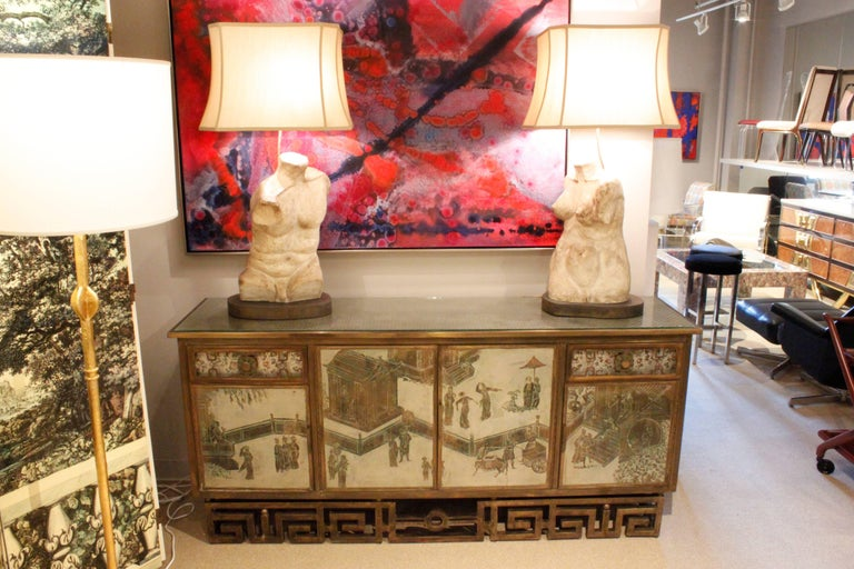 Philip & Kelvin Laverne One of a Kind Torso Table Lamps, circa 1970 For Sale 1