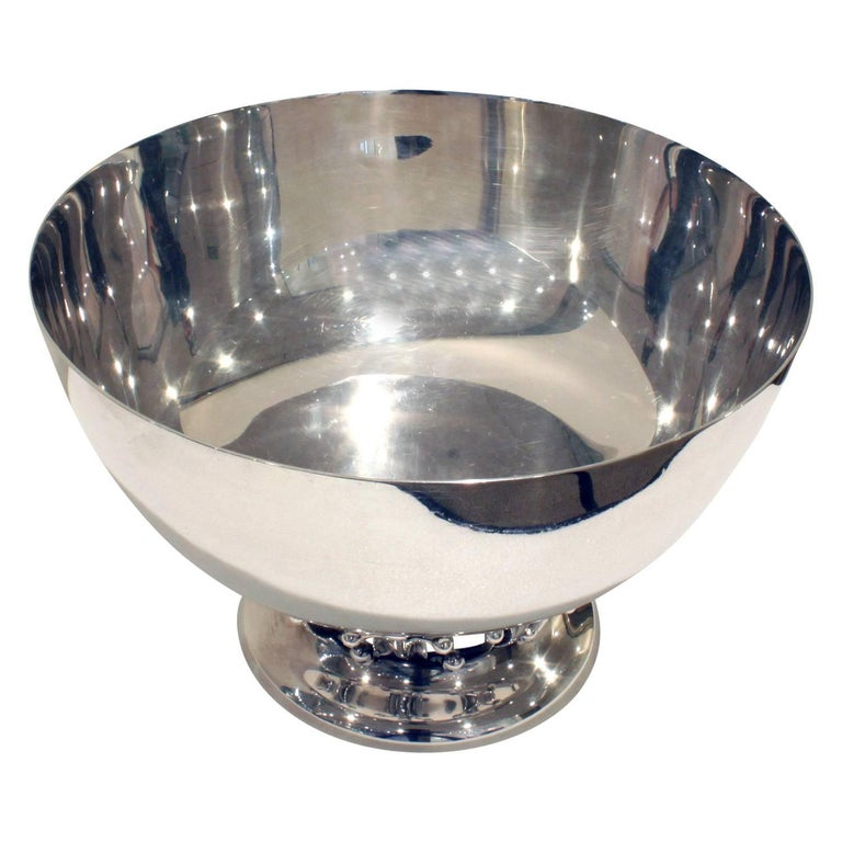 American Woodside Silver Co. Sterling Art Deco Bowl, 1920s For Sale