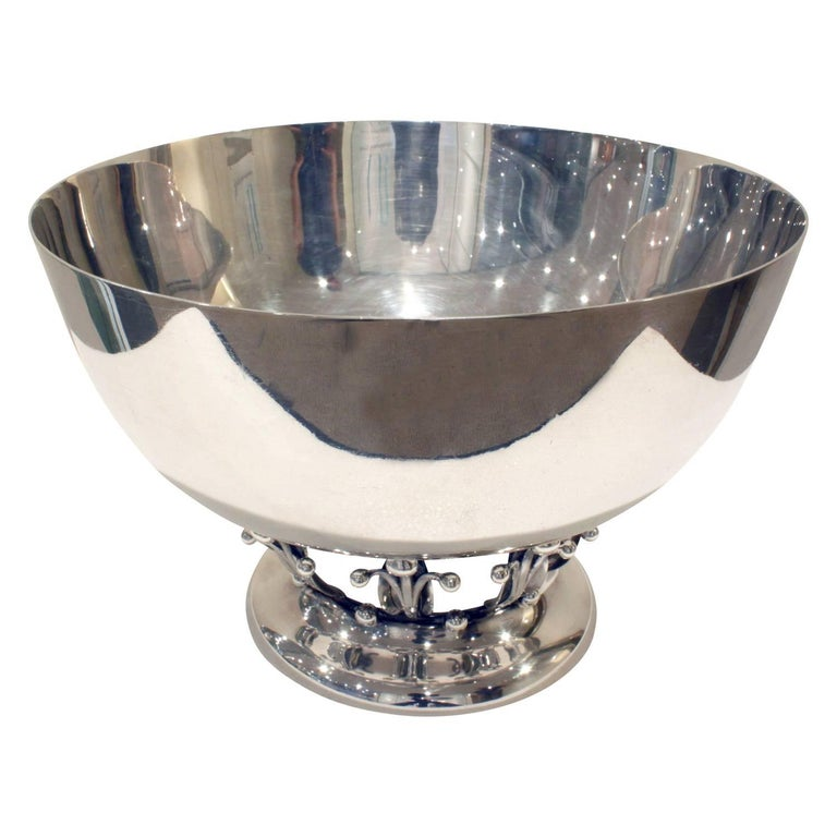 Woodside Silver Co. Sterling Art Deco Bowl, 1920s For Sale