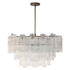 "Beautiful ""Tronchi"" Murano Glass Chandelier, 1970s"