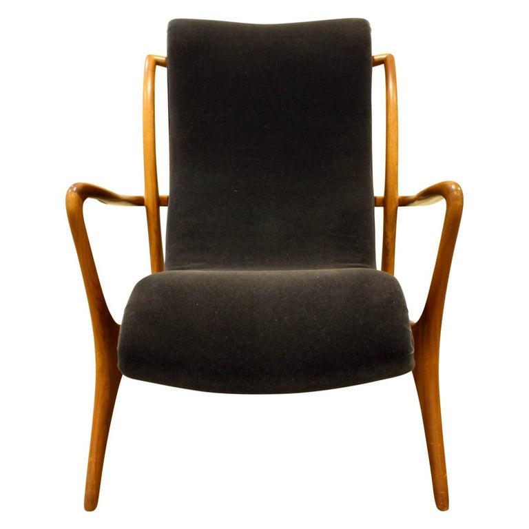 American Vladimir Kagan Sculpted Contour Chair, 1950s For Sale