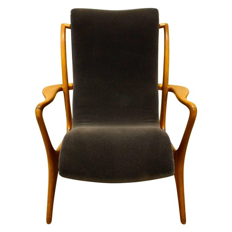 Mid-Century Modern Vladimir Kagan Sculpted Contour Chair, 1950s For Sale