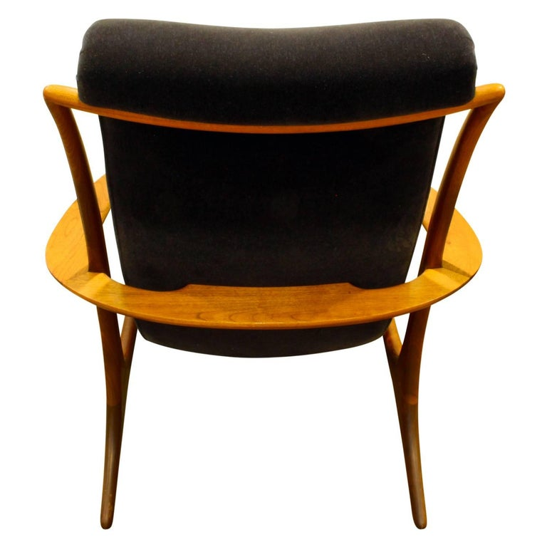 Hand-Crafted Vladimir Kagan Sculpted Contour Chair, 1950s For Sale
