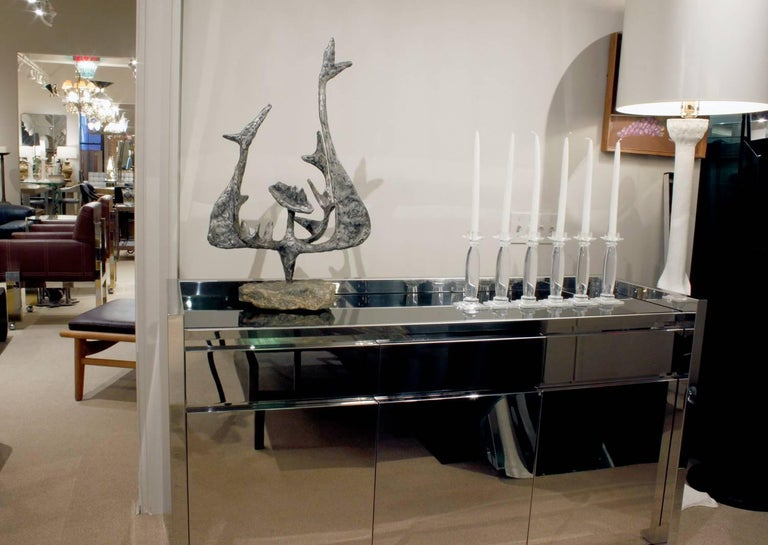 Late 20th Century Karl Springer Six Lucite