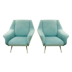 Gigi Radice Pair of Chic Sculptural Lounge Chairs, 1950s