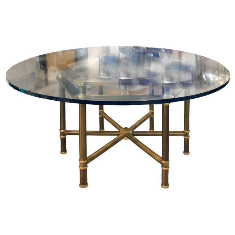 "Karl Springer Rare ""Hexagonal Jansen Style Table"", 1970s"
