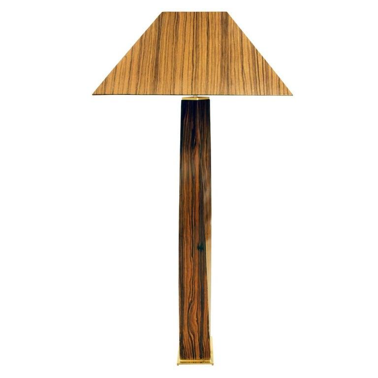 "Karl Springer Exceptional ""JMF"" Floor Lamp in Macassar Ebony, 1970s"