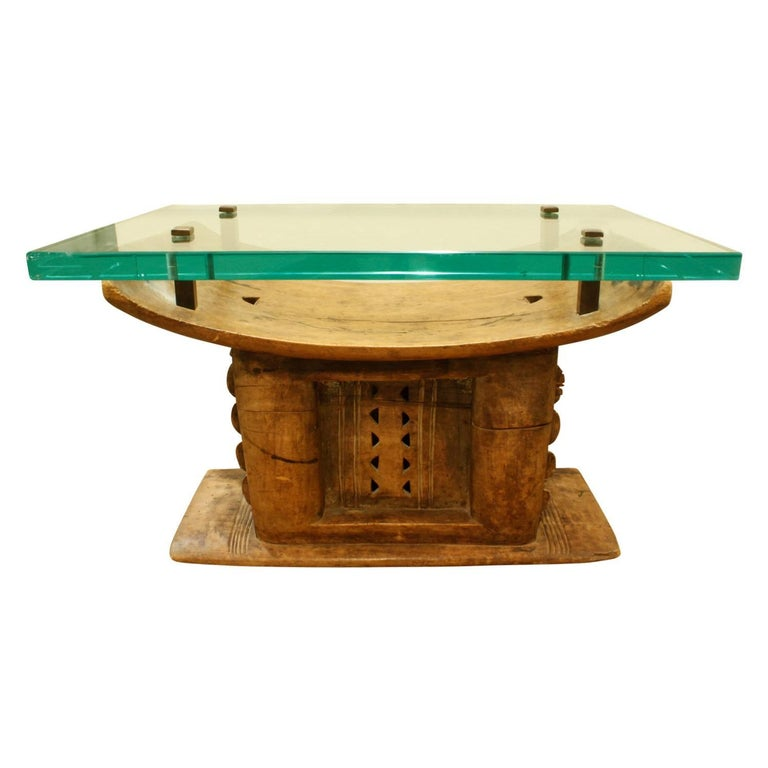 Karl Springer Hand-Carved African Coffee Table, 1970s For Sale at 1stdibs