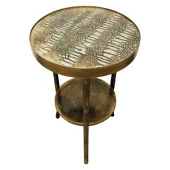 "Philip & Kelvin LaVerne Rare ""Eternal Forest"" Side Table, 1960s"