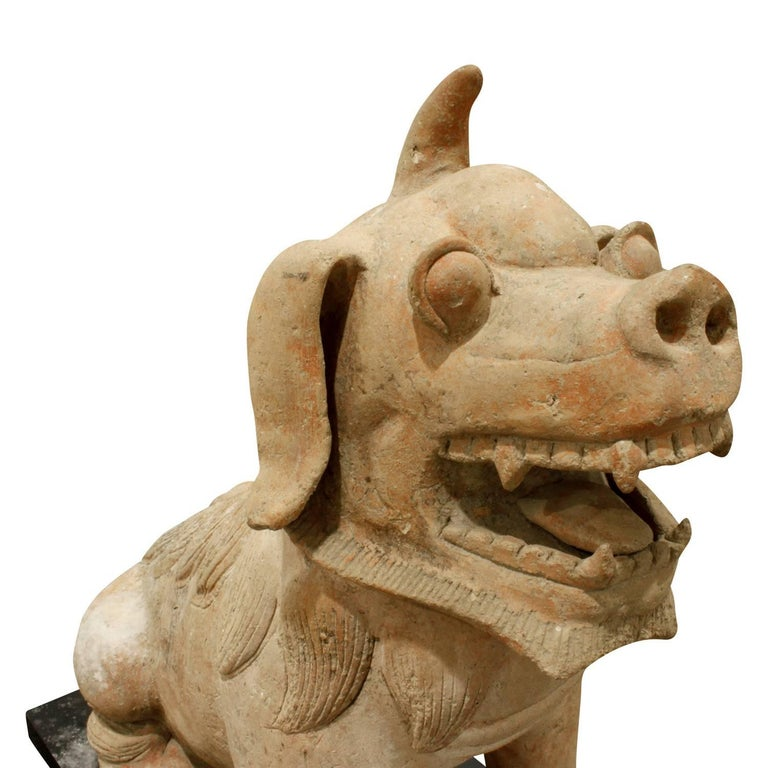 Large Chinese Ceramic Foo Dog, 1970s In Excellent Condition For Sale In New York, NY