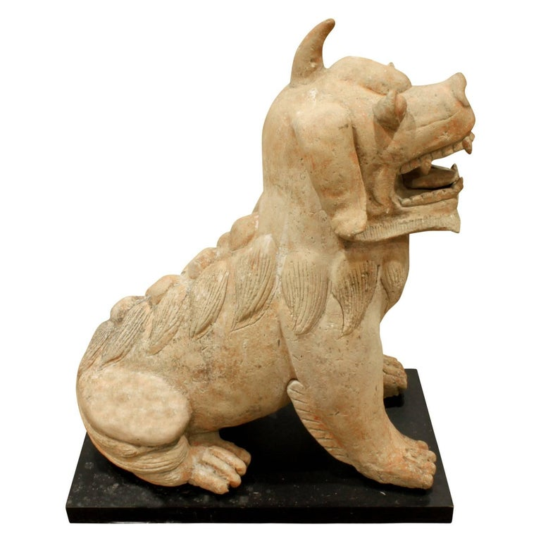 Modern Large Chinese Ceramic Foo Dog, 1970s For Sale