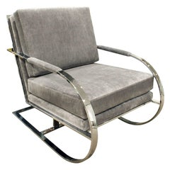 Milo Baughman Cantilevered Lounge Chair, 1970s