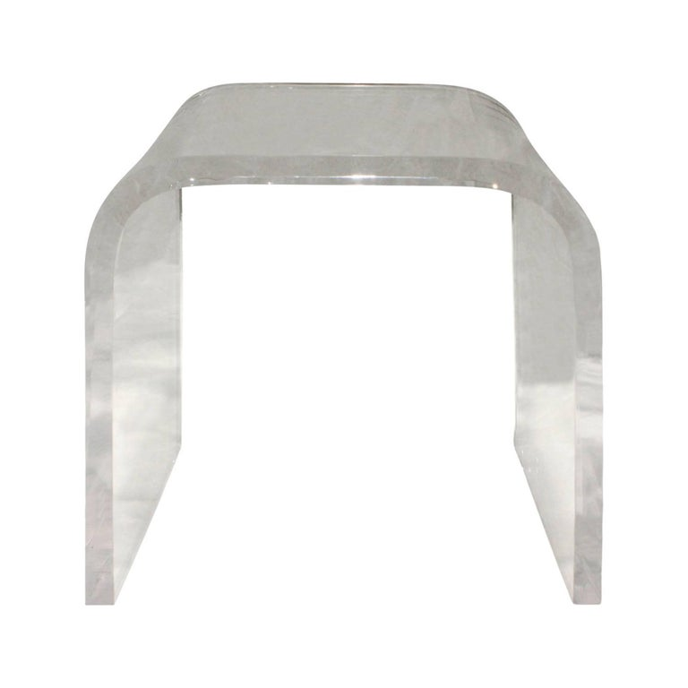 Lucite Waterfall Side Table, 1970s