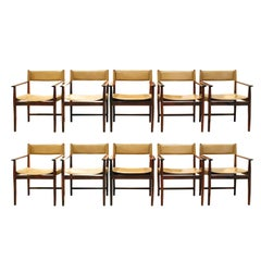 Kurt Ostervig Set of Ten Rosewood Dining Chairs, 1960s