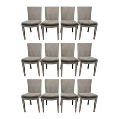 Karl Springer Set of 12 JMF Dining Chairs, 1970s