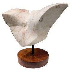"Naomi Feinberg ""Flight"" Sculpture in Alabaster Marble, 1960s"