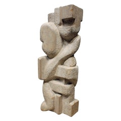 "Naomi Feinberg ""Dream Within a Dream"" Sculpture in Italian Marble 1960s"
