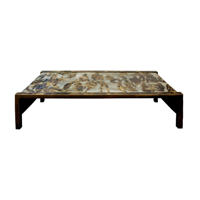 "Philip & Kelvin LaVerne Rare and Important ""Bathers"" Coffee Table, 1960s For Sale"